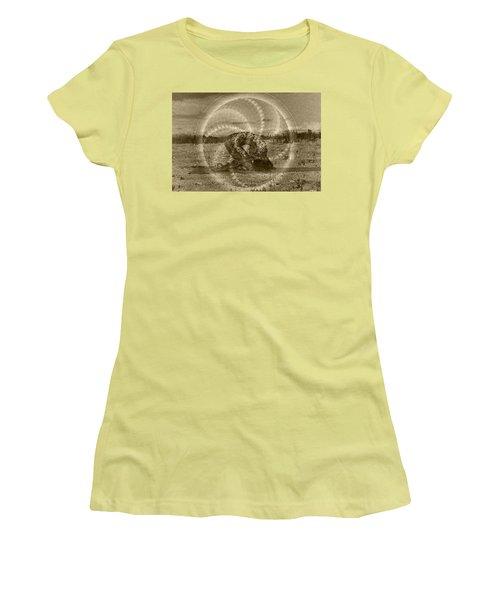Sacred Rabbit Women's T-Shirt (Junior Cut) by Deprise Brescia