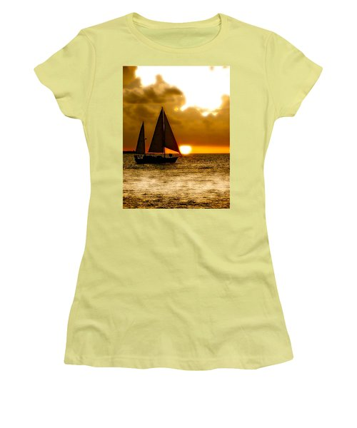 Sailing The Keys Women's T-Shirt (Junior Cut) by Iconic Images Art Gallery David Pucciarelli