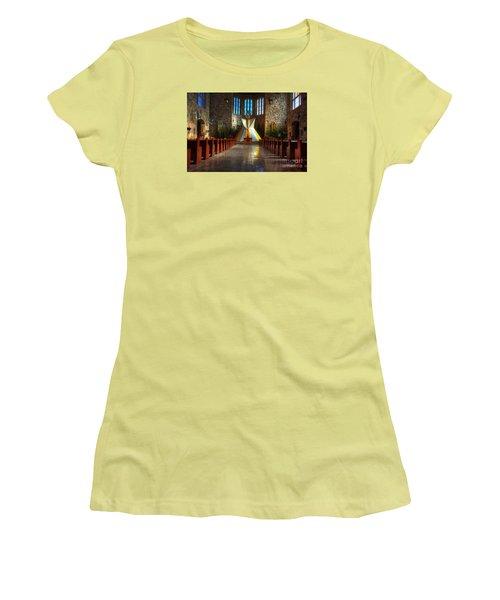 Saint Josephs Apache Mission Women's T-Shirt (Junior Cut) by Bob Christopher