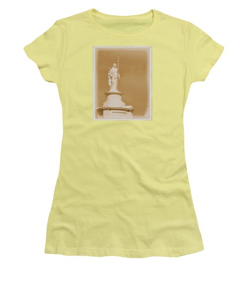 Women's T-Shirt (Junior Cut) featuring the photograph Saint With A Cross by Nadalyn Larsen