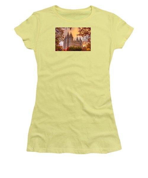 Salt Lake City Temple Women's T-Shirt (Athletic Fit)