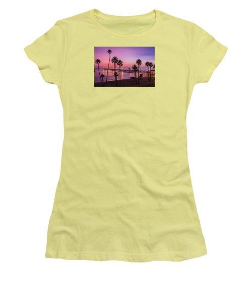 San Clemente Sunset Meditation Women's T-Shirt (Athletic Fit)
