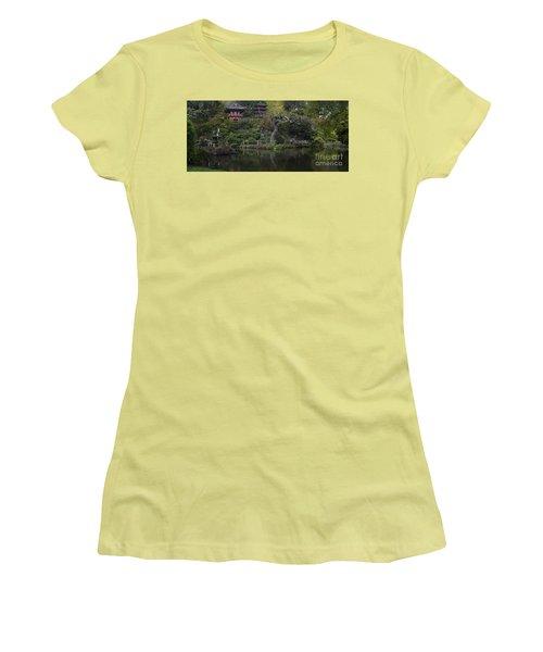 San Francisco Japanese Garden Women's T-Shirt (Junior Cut) by Mike Reid