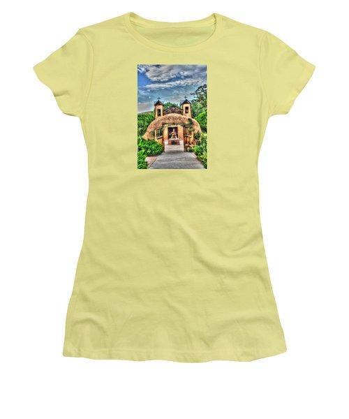 Women's T-Shirt (Junior Cut) featuring the photograph Santuario De Chimayo by Lanita Williams