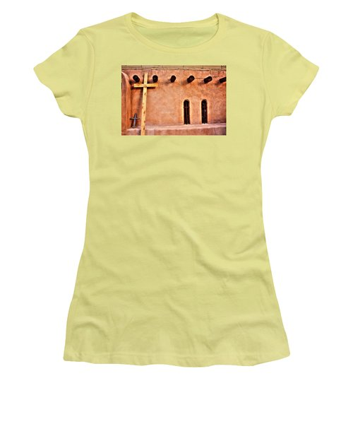 Santuario Four Crosses Women's T-Shirt (Athletic Fit)