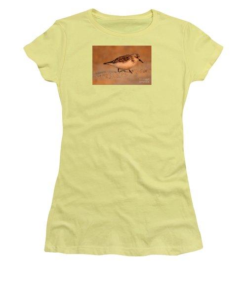 Women's T-Shirt (Junior Cut) featuring the photograph Sanderling Sunrise by John F Tsumas