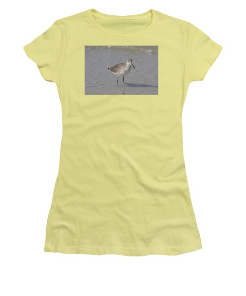 Women's T-Shirt (Junior Cut) featuring the photograph Sandpiper by Christiane Schulze Art And Photography