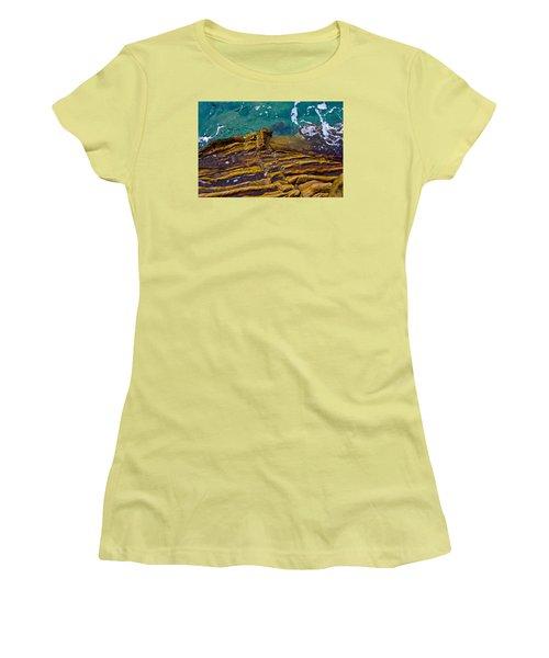 Women's T-Shirt (Junior Cut) featuring the photograph Sandstone Ribs by Adria Trail