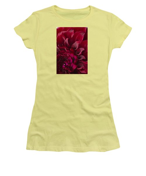 Scarlet Spiral Women's T-Shirt (Junior Cut) by Joel Loftus