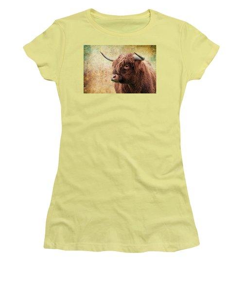 Scottish Highland Steer Women's T-Shirt (Junior Cut) by Steve McKinzie