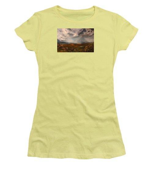 Scottish Loch Women's T-Shirt (Junior Cut) by Jean Walker