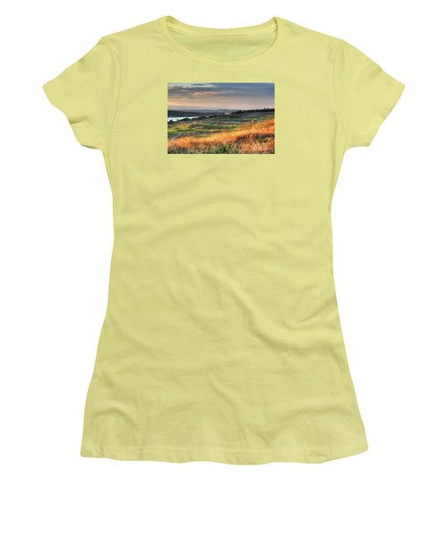 Scottish Style Links In September - Chambers Bay Golf Course Women's T-Shirt (Junior Cut) by Chris Anderson