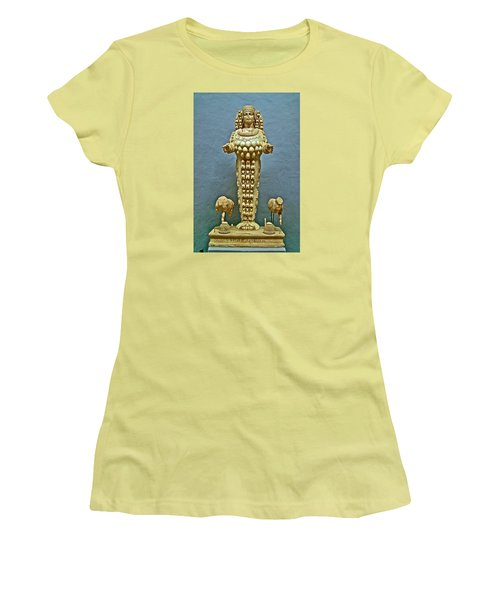 Sculpture Of Artemis-goddess Of Fertility In Ephesus Museum-turkey Women's T-Shirt (Junior Cut) by Ruth Hager