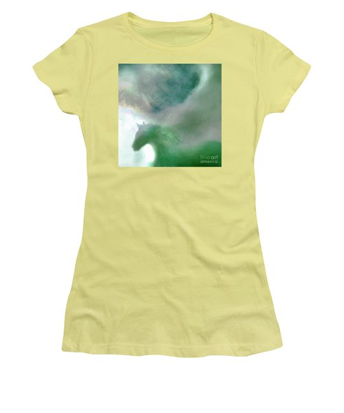 Women's T-Shirt (Junior Cut) featuring the photograph Sea Glass Storm by Michael Rock