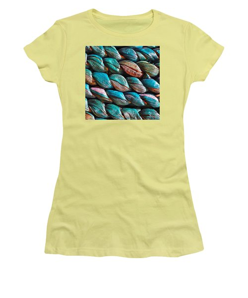 Seagrass Blue Women's T-Shirt (Junior Cut) by Linda Bianic