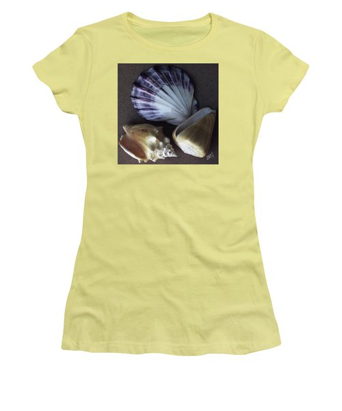 Women's T-Shirt (Athletic Fit) featuring the photograph Seashells Spectacular No 30 by Ben and Raisa Gertsberg