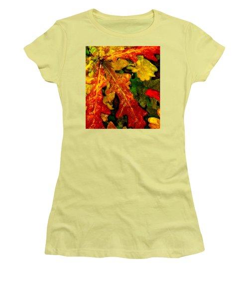 Women's T-Shirt (Junior Cut) featuring the digital art Season's End by Chuck Mountain