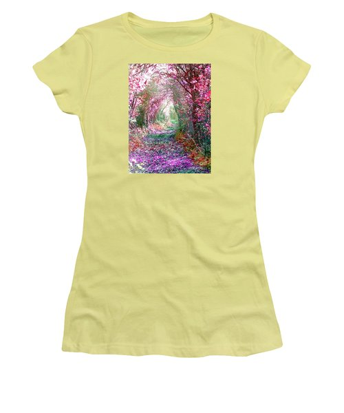Secret Garden Women's T-Shirt (Junior Cut) by Vicki Spindler