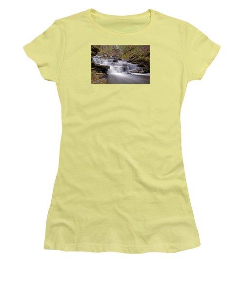 Seneca Falls In Spring Women's T-Shirt (Junior Cut) by Shelly Gunderson