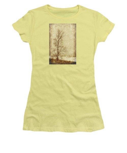 Sentinel Tree In Winter Women's T-Shirt (Junior Cut) by Nikolyn McDonald
