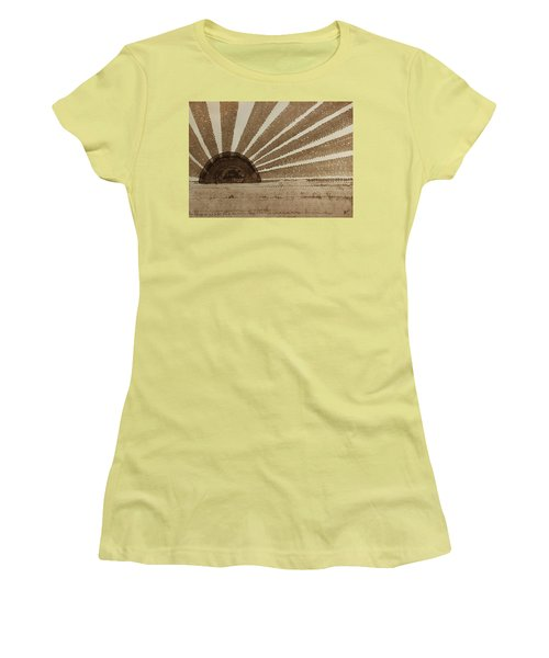 Sepia Sunset Original Painting Women's T-Shirt (Athletic Fit)