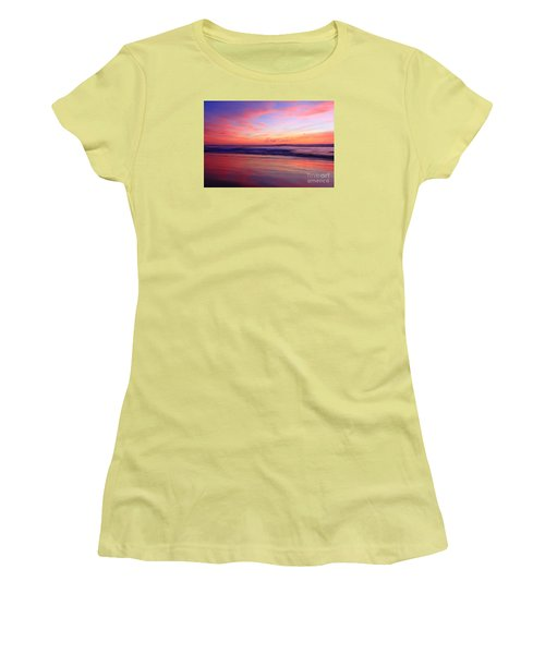 Women's T-Shirt (Athletic Fit) featuring the photograph Serene Oceanside Glow by John F Tsumas