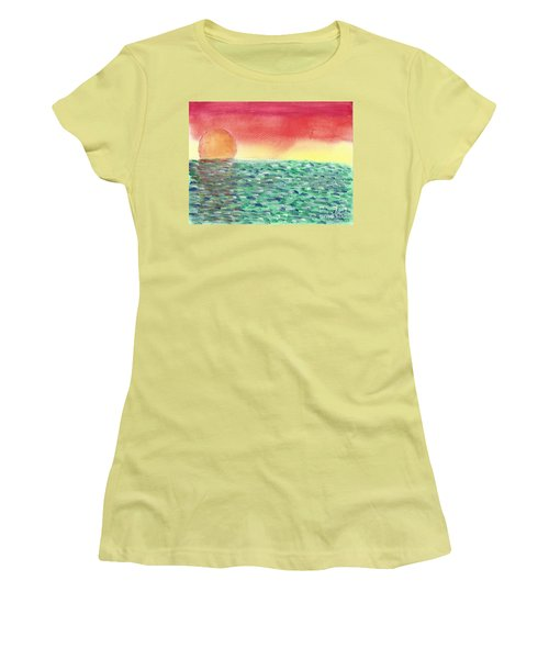 Setting Sea Women's T-Shirt (Junior Cut) by John Williams