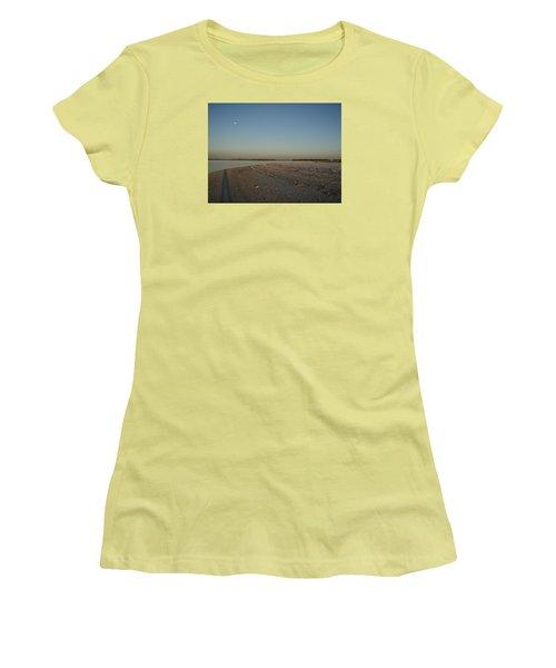 Women's T-Shirt (Junior Cut) featuring the photograph Shadow Moon by Robert Nickologianis