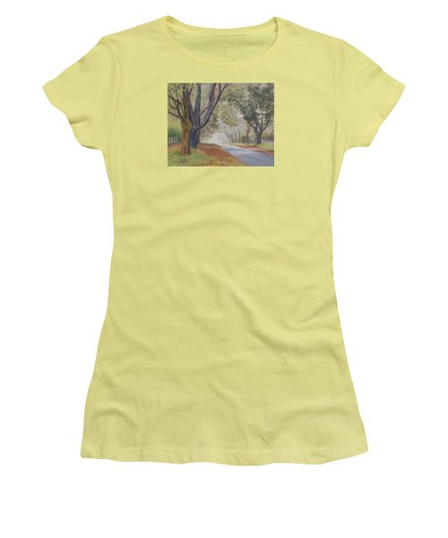 Shadow And Fog Down Beautiful Atlantic Avenue Women's T-Shirt (Athletic Fit)