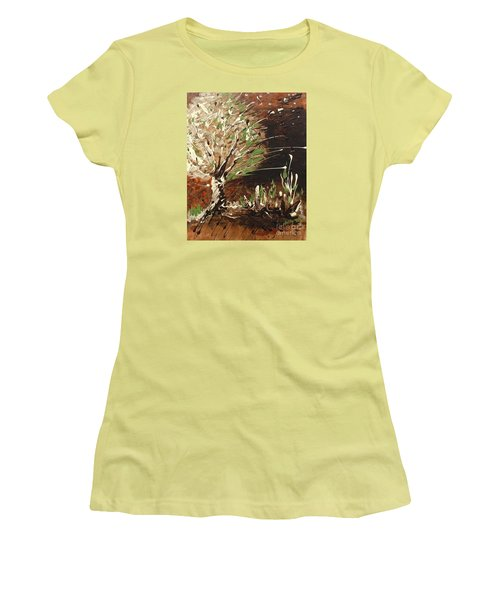 Women's T-Shirt (Junior Cut) featuring the painting Shadows by Holly Carmichael