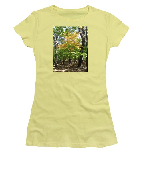 Shadows In The Forest Women's T-Shirt (Athletic Fit)