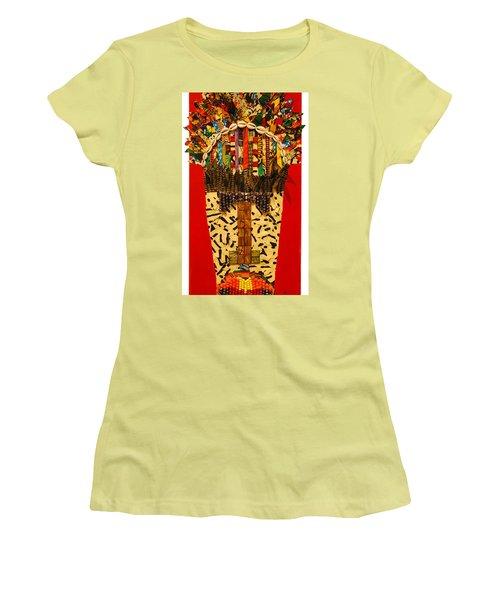 Shaka Zulu Women's T-Shirt (Junior Cut) by Apanaki Temitayo M