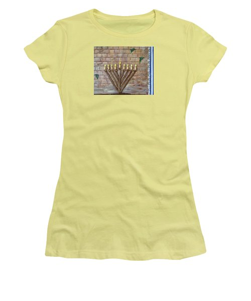 Chanukah Of Peace Women's T-Shirt (Athletic Fit)