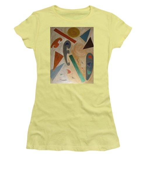 Shapes Women's T-Shirt (Junior Cut) by Barbara Yearty
