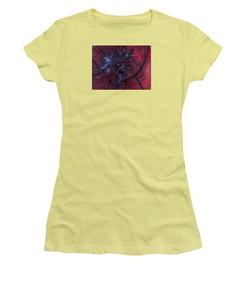 Women's T-Shirt (Junior Cut) featuring the digital art She Wants To Be Alone by Jeff Iverson