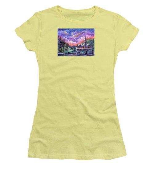 Shoot For The Moon Women's T-Shirt (Junior Cut) by Retta Stephenson