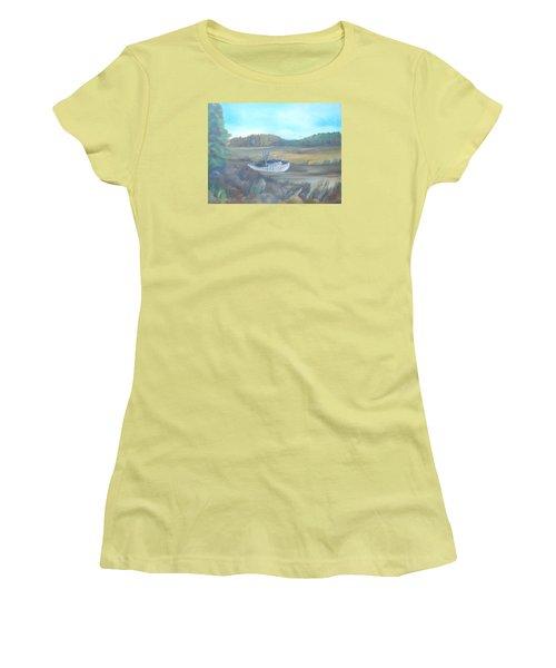 Shrimp Boat Women's T-Shirt (Athletic Fit)