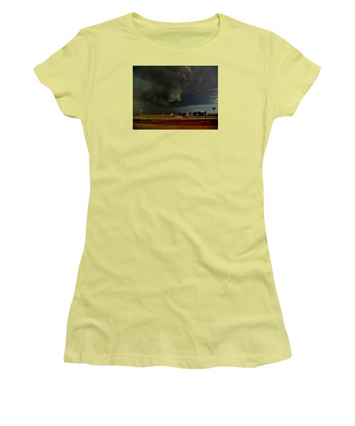 Women's T-Shirt (Athletic Fit) featuring the photograph Signs Of A Supercell by Ed Sweeney