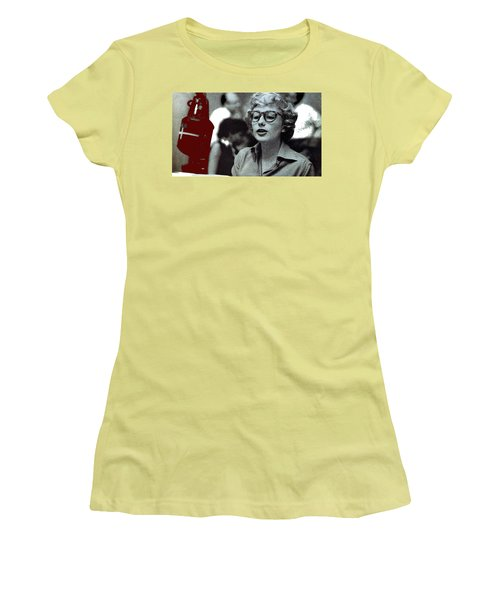 Singer Pianist Blossom Dearie  No Known Date Women's T-Shirt (Athletic Fit)