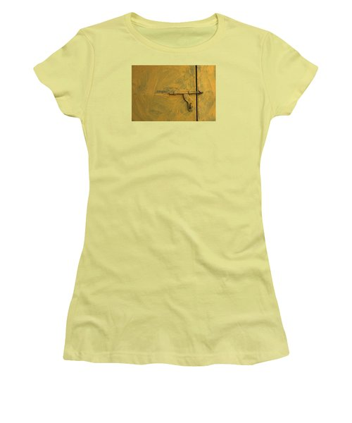 Women's T-Shirt (Junior Cut) featuring the photograph Skc 0047 The Door Latch by Sunil Kapadia