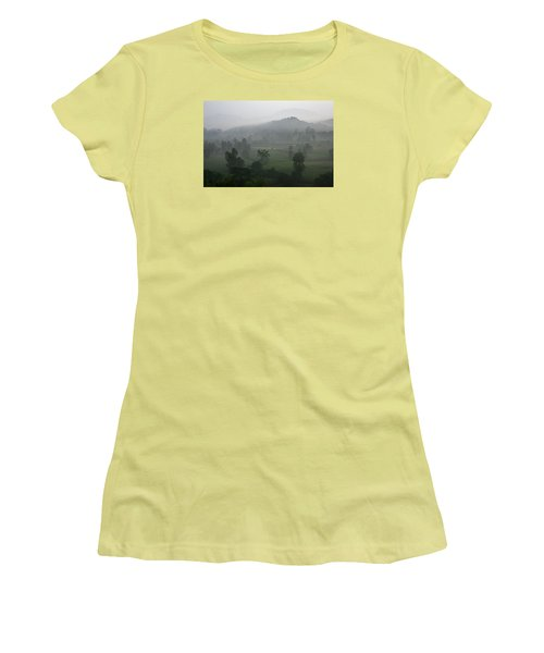 Women's T-Shirt (Junior Cut) featuring the photograph Skc 0079 A Winter Morning by Sunil Kapadia
