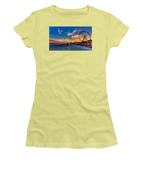Skywheel Sunset At Myrtle Beach Women's T-Shirt (Athletic Fit)