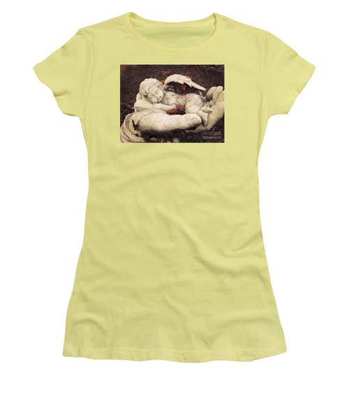 Women's T-Shirt (Junior Cut) featuring the photograph Baby Angel Sleeping In Gods Hands by Ella Kaye Dickey
