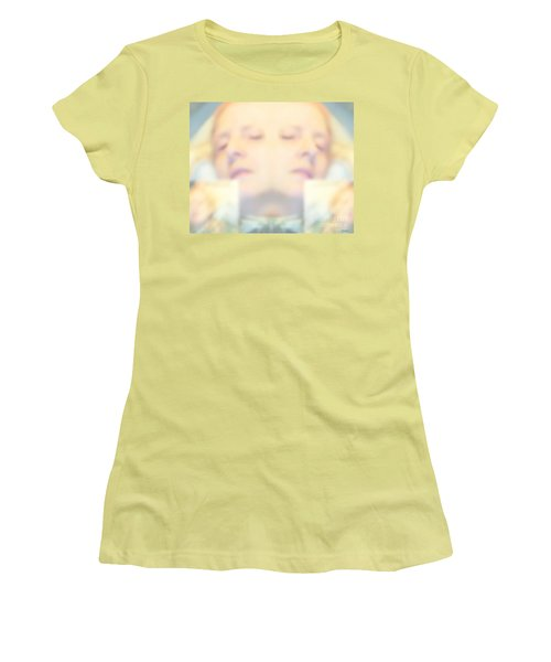 Sleeping Woman Drifting In Dreams Women's T-Shirt (Junior Cut) by Marian Cates