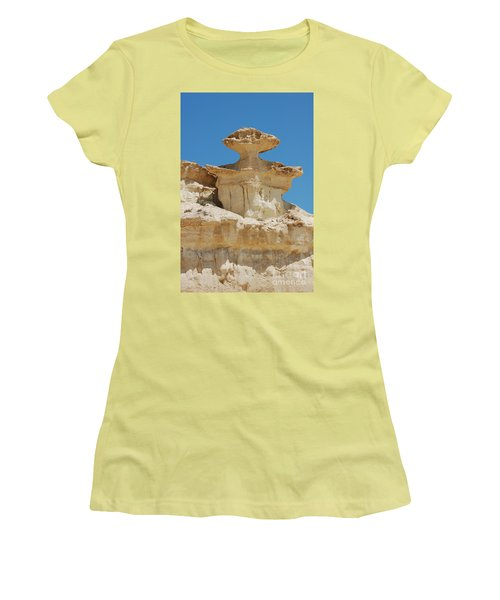 Women's T-Shirt (Junior Cut) featuring the photograph Smiling Stone Man by Linda Prewer