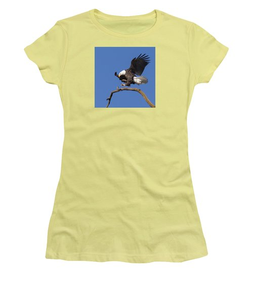 Women's T-Shirt (Junior Cut) featuring the photograph Smooth Landing 6 by David Lester