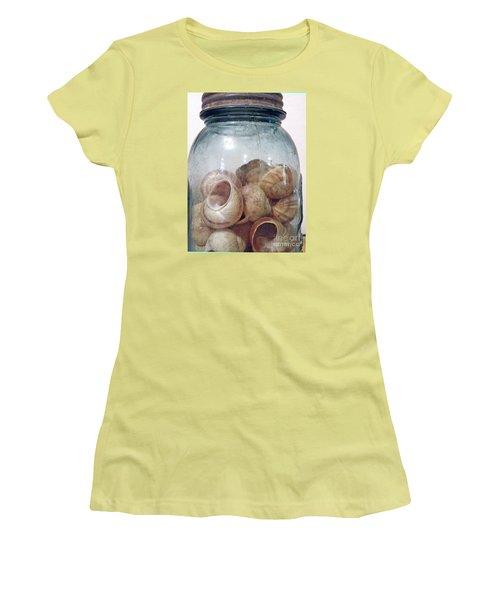 Snail Motel Women's T-Shirt (Junior Cut) by Joe Jake Pratt