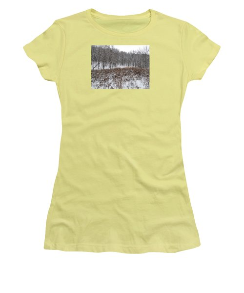 Snow Covered Woodland Women's T-Shirt (Athletic Fit)