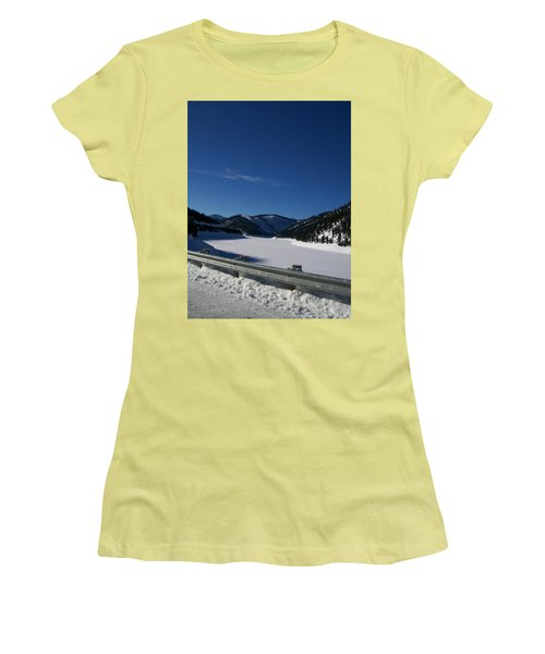 Snow Lake Women's T-Shirt (Athletic Fit)