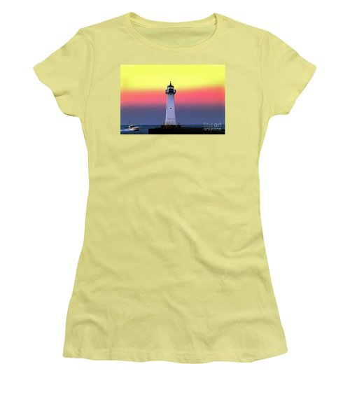 Sodus Outer Lighthouse Women's T-Shirt (Athletic Fit)